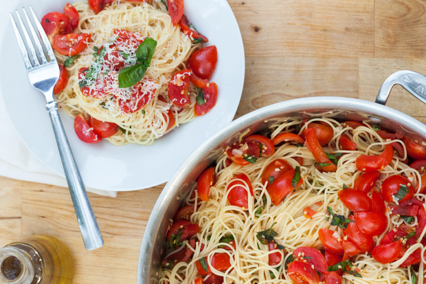 angel hair pasta and quick tomato sauce recipe