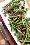 green beans with bacon dressing recipe