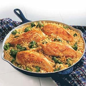 skillet chicken 'n rice recipe