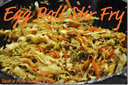 pan egg roll stir fry recipe