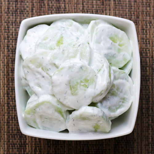cucumbers in sour cream recipe