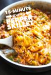 One-Pan Burger-Bell Pepper Skillet Meal